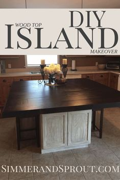 In need of a kitchen island DIY makeover that doesn't break the bank.  We built ours using easily accessible products, in 2 days, and under $800 (it's huge).  I can show you how you can use these same products and build an oak top island perfect for your space.