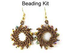Earrings Kit Beading Materials Supplies Beaded by SimpleBeadKits