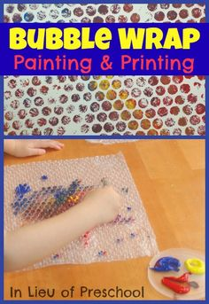 In Lieu of Preschool: Bubble Wrap Painting and Printing