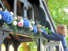 Sally creating the design. Middleton Lodge, Magical Wedding, St Michael, Simply Beautiful, Spring Wedding, Sally, Wedding Flowers, Floral Wreath, Bloom