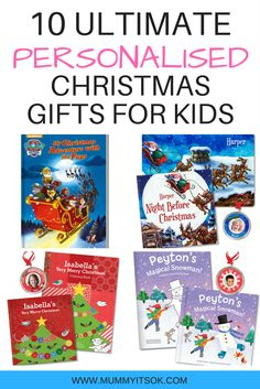 10 Ultimate Personalised Christmas Gifts For Kids | Personalised Christmas Gift Ideas For Children | Christmas Eve Box | Christmas Present For Toddlers