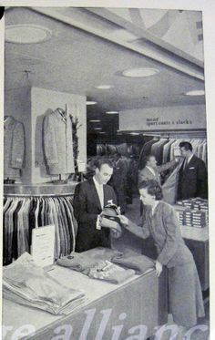 Mens Department of JL Hudson Store in Detroit MI circa 1957
