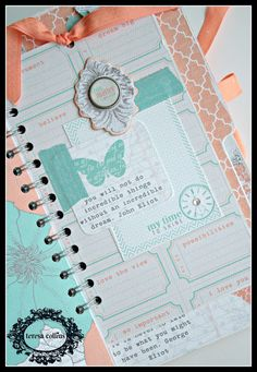 CHerInspirations: Journal book using Teresa Collins Tell Your Story
