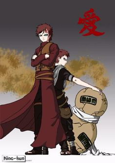 Gaara before and after time skip.