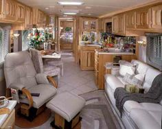 Cool Airstream Interiors | ... and galley/sofa slide-out make it the roomiest Airstream to date