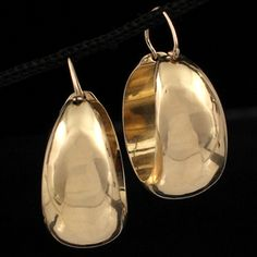 Shop 14KY Large Tapered Gold Hoop Earring  27mms and other jewelry, art, coins, rugs and real estate at www.aantv.com