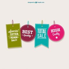 Best offer vector tags