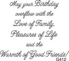 Overflowing Birthday Greeting - 412G