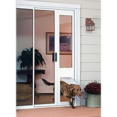 Find This Pin And More On Downsizing To A Condo By PetraEMartin. Sliding  Glass Doors With Doggie ...