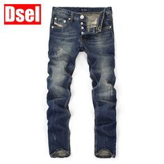 Top Quality Hot Sale Fashion Dsel Brand Men Jeans Straight Dark Blue Color Printed Jeans Men Ripped Jeans,High Quality Jeans