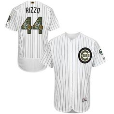 07ff74934b3 Cubs  44 Anthony Rizzo White(Blue Strip) Flexbase Authentic Collection  Memorial Day Stitched