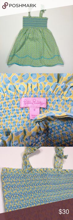 Lilly Pulitzer girls dress size 6 clam shells cute Gently used, 100% cotton Lilly Pulitzer Dresses Casual