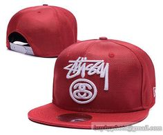 Stussy Snapback Hats Red 2