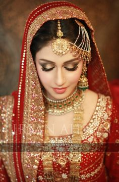 A 'softer' desi bridal/shaadi makeup look with more focus on highlighting and soft lip colour (Desi Bridal Shaadi Indian Pakistani Wedding)