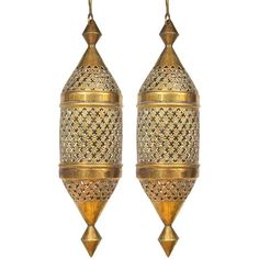 Large Brass Morrocan Style Pendant Lights