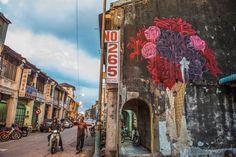 Malaysia ~ Artist: Don John Don John, Stencil Graffiti, Street Installation, Pop Up Art, Chalk Art, Street Artists, Cool Walls, Urban Art, Traditional Art