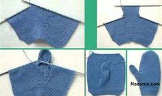Crochet Gloves Pattern, Baby Knitting Patterns, Knitting Stitches, Knitting Designs, Crochet Patterns, Knit Mittens, Knitted Gloves, Knitting Socks, All Free Crochet