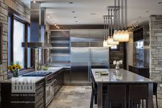 Big Stainless Steel Refrigerator For Contemporary Kitchen Design Elegant Contemporary Kitchen Designs