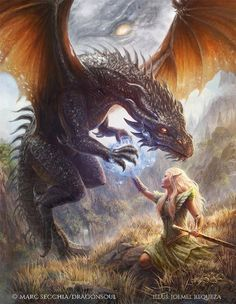 Image result for dragon and woman art fantasy