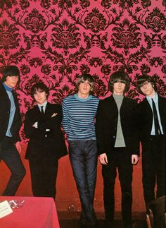 The Byrds in 1965 -- L - R Gene Clark, David Crosby, Michael Clarke, Jim/Roger McGuinn and Chris Hillman - the way they looked when I first went to see them that year (the ties went by by fast!)