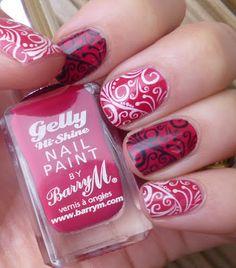 Pomegranate Filigree Nails