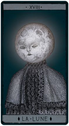 ~ Tarot de Marseille © Pole Ka. The Moon.