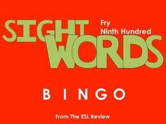 Play bingo with your students in style using these beautifully crafted bingo cards covering the ninth hundred of the Fry Instant Sight Words. This packet includes: - a set of 50 bingo cards for the first fifty words- a second set of 50 bingo cards for the remaining fifty words- caller cards for each set- bingo markersEnjoy!Dont forget to try:* Fry Sight Words Bingo - First Hundred* Fry Sight Words Bingo - Second Hundred* Fry Sight Words Bingo - Third Hundred* Fry Sight Words Bingo - Fourth…