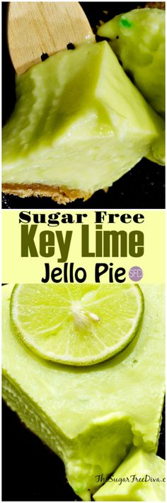This Sugar Free Key Lime Jello Pie is really easy to make and it also tastes delicious to eat or share with others as well. Diabetic Desserts, Diabetic Recipes, Diet Recipes, Diabetic Foods, Diabetic Cake, Pre Diabetic, Healthy Recipes, Paleo Dessert, Simple Recipes