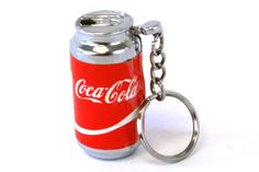 Small-Key-Chain-Coca-Cola-Advertising-Torch-Cigarette-Lighter-As-Is