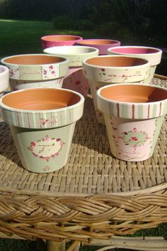 Shabby Vintage Prestatyn Vintage Shabby Chic Furniture For Sale - May 26 2019 at Decoupage Vintage, Decoupage Art, Vintage Shabby Chic, Shabby Chic Homes, Shabby Chic Decor, Ceramic Pots, Terracotta Pots, Clay Pots, Painted Plant Pots