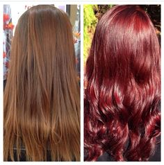 Before & After New color is Redkin 4R Lava