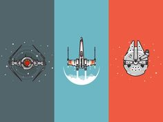 Star Wars spaceship illustrations by Infographic Paradise #Design Popular #Dribbble #shots