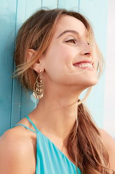 The perfect summer chandeliers, from beach to brunch these earrings go with everything! Same great worn gold finish as our bestselling Cleopatra Studs. www.stelladot.co.uk/jackiemcnally