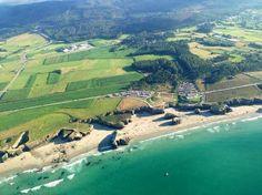 Impresionante vista aérea de la Playa de las Catedrales. Nuestro artículo de mañana estará dedicado a ella!!!