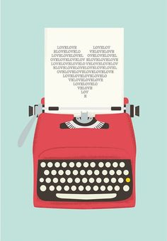 Vintage typewriter poster* mid century art* Retro print* heart print* words* pop art* posters with typewriters Pop Art Poster, Poster Design, Print Poster, Graphic Design, Retro Design, Design Art, Design Ideas, Posters Vintage, Love Posters