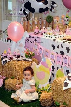 Farm animals birthday party birthday party ideas photo 4 of 11 Farm Animal Birthday, Farm Birthday, Birthday Party Themes, Barnyard Party, Farm Party, Event Planning Business, Easter Party, Baby Halloween, Farm Animals