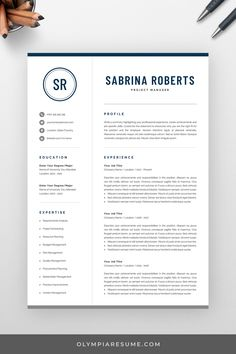 Reviewing your resume is the first assessment an employer does of you, so making a good first impression and attracting the employer's attention is vital. Presenting your skills, experience and achievements with a modern, eye-catching and well-structured resume can play a significant role in getting invited for an interview and getting closer to landing the job you want. Use a professional template to create your resume and land the job! #olympiaresume #resume #resumetemplate #cv #cvtemplate Modern Resume Template, Creative Resume Templates, Create A Resume, Cv Design, Senior Project, Business Analyst, Describe Yourself, Professional Resume, Assessment