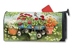 Geraniums By The Dozen Large Magnetic Mailbox Cover More Info