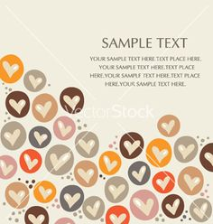 Hearts background vector