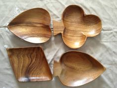 Playing Card Nut Bowls Clubs Hearts Diamonds Spades