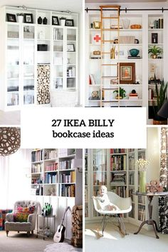Billy Bookcase Design Ideas Beautiful 37 Awesome Ikea Billy Bookcases Ideas for Your Home Digsdigs Home Decor Hacks, Home Hacks, Diy Home Decor, Libreria Billy Ikea, Ikea Bookcase, Ikea Book Shelves, Build In Bookshelves, Kitchen Bookcase, Bookshelf Ideas