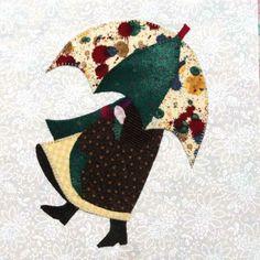 Eveline und 1001 Quilts: Die Sunbonnets im Detail Paper Pieced Quilt Patterns, Wool Applique Patterns, Applique Quilts, Applique Designs, Quilting Designs, Sunbonnet Sue, Scrappy Quilts, Baby Quilts, Crumb Quilt