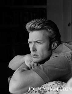 Clint Eastwood at home in North Hollywood, California. 1958