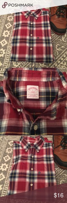 ⭐️SALE⭐️Brooks Brothers Button Down- worn once! Only worn once by my son who's arms outgrew instantly. 'The Original Polo Shirt 346' Size Large. 100% Cotton. Brooks Brothers Shirts Casual Button Down Shirts