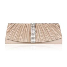 Satin With Rhinestone/ Bowknot Evening Handbags/ Clutches More Colors Available