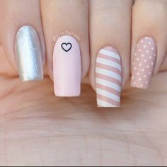 Stylish Nails, Trendy Nails, Cute Nails, Nail Art Designs Videos, Colorful Nail Designs, Manicure E Pedicure, Nail Spa, Pretty Nail Art, Best Acrylic Nails