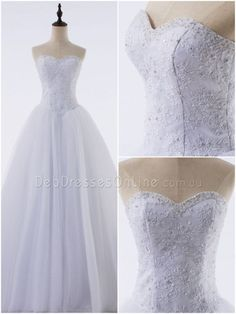 The timeless romance of this fairytale debutante gown is its charm! A gorgeous lace bodice with sweetheart neckline adorn with crystals and pearls, finished with corset closure. #princessdebutantegown #classicdebutantegown #debdressesaustralia #chicdebdress #plussizedebdress #debutantegown #debdressesonline  #debdresses  #debdressshop  #debutante  #debutantes2017#debutanteball #debdressesmelbourne #cheapdebutantegown #debutantegownsaustralia