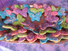 Butterfly Cookies with White Chocolate Icing