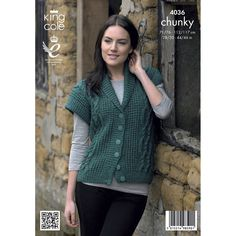 Jacket and Waistcoat in King Cole Chunky Tweed - 4036. Discover more Patterns by King Cole at LoveKnitting. We stock patterns, yarn, needles and books from all of your favorite brands.