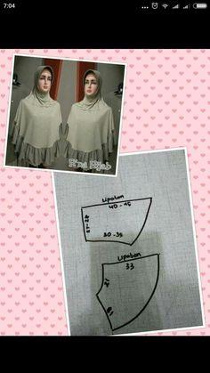 Shawl Patterns, Dress Sewing Patterns, Clothing Patterns, Hijab Fashion, Diy Fashion, Fashion Design, Turkish Hijab Style, Abaya Pattern, Muslim Dress